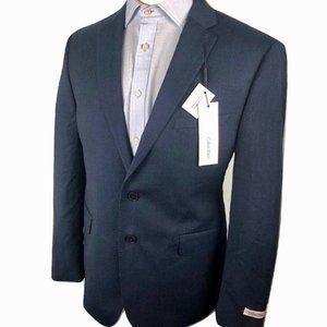New! Calvin Klein Wool Blazer Slim Navy Blue 44 S